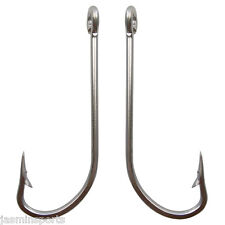 50pcs Stainless Steel Fishing Hook 34007 O'shaughnessy Long Shank Saltwater Hook