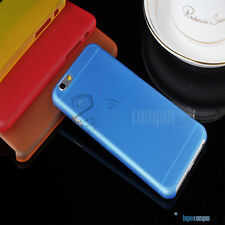 2X FUNDAs CARCASAs TPU APPLE IPHONE 6 4,7 AZUL BLUE MATE ULTRA FINA 0,3mm NUEVA