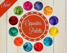 Opposites Color Palette Wool Roving Fiber 3oz/84gms Needle Felting Spinning Soap