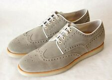 SANTONI grey suede leather shoes Made in Italy BNIB S 8 IT 43 EU val. 389€