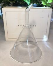 """Pottery Barn Clear Glass Wine Funnel 6.25"""" Tall"""