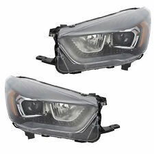OEM NEW Front Right & Left Halogen Headlight LED Accent Black Bezel 17-18 Escape
