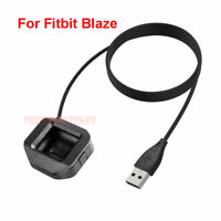 USB Charging Battery Charger Cradle Dock Cable for Fitbit Blaze Watch Black