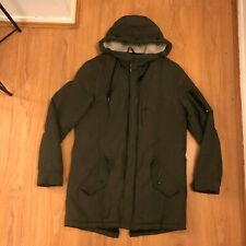 Brave Soul London Outdoor Coat in Green, Size: M *Good Condition*