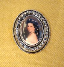 Anstecknadel Kaiserin Sissi  sehr schöne barocke Brosche Königstreue 4x3,2 cm