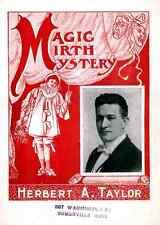 Taylor A4 Photo Print Magic Magician Vintage