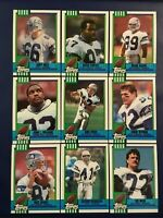 1990 Topps SEATTLE SEAHAWKS Complete Team Set 15 WYMAN, CORTEZ KENNEDY ROOKIE++