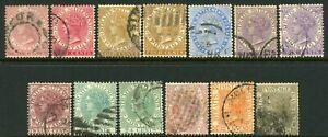 Malaya Straits Settlement 1883-91 2c to 96c (13) - G-FU