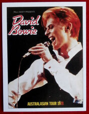 DAVID BOWIE - Individual Trading Card - Card #09 - Australasian Tour 1978