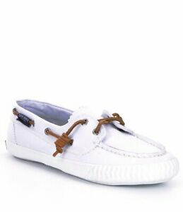 Sperry Top-Sider Sayel Away Washed White Canvas Women's Boat NEW Shoes Size 9.5