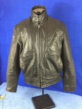 FMC Leather Racer Motorcycle Jacket Men's size medium