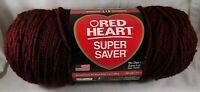 Red Heart Yarn Super Saver Claret Crochet Worsted Knit Craft Deep Red