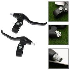 1 Pair Brake Levers 2-Finger MTB Bicycle BMX Road Bike Black Handle Bar Fit 22mm