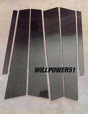 6PC 2X2 CARBON FIBER PILLAR PANELS PANEL FOR BMW E39 5-SERIES 97-03 M5 540i 530i