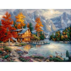 Faraway Boat Cup Landscape 5d Diamond Painting Kits for Adults Kids Full Drill Round Diamond Rhinestone Mosaic dotz for Home Wall Decor 16X16inch