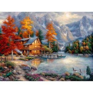 Full Drill 5D Diamond Painting Cloud Mountain Cross Stitch Kits Decor Art Gifts
