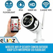 Wireless WiFi IP Security Camera Outdoor 1080P CCTV Waterproof LED Floodlight