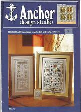 ANCHOR EMBROIDERY CHARTS ANNIVERSARY SAMPLERS 50th & All HARDANGER / FREESTYLE