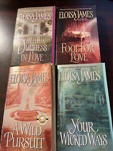 Duchess Quartet Series By Eloisa James. 4 Books. Acceptable Condition