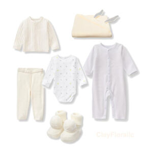 6 Janie Jack Unisex boy girl 3 6 month bodysuit Cardigan Pant bootie blanket set