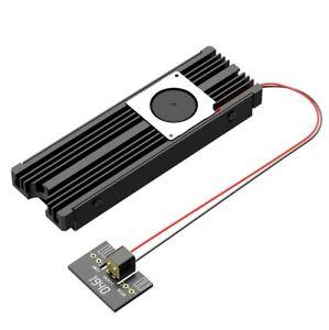 M.2 NVME SSD Aluminum Radiator Heatsink Cooler Turbofan