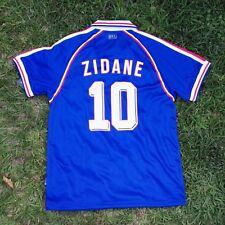 """France Men's Retro Soccer Jersey, WC 1998, Zinedine Zidane """"Replica"""" non Branded"""