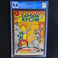 CAPTAIN ATOM #87 💥 CGC 9.4 NM 💥 Fiery Icer Appearance! Charlton Comics 1967