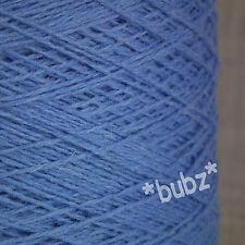 SOFT PURE MERINO WOOL 3 PLY 500g CONE 10 BALLS AZURE BLUE YARN HAND MACHINE KNIT