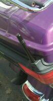"2-pack Short Whip Metal AM/FM/XM CB Antenna Masts for Harley Davidson 4 "" inch"