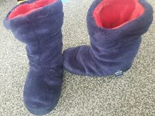 New Joules Kids Padabout Slippers 8-10 Small Navy Blue Boots Slipper socks Boys