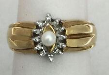 Anelli di lusso naturale perla diamante