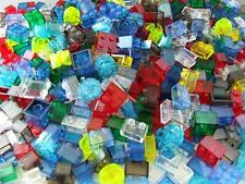 100 New Lego Bricks Clear Color Stained Glass Mosaic Style House Windows Lot Set