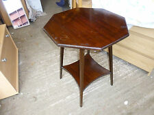 Mahogany Octagon Side & End Tables without Assembly Required