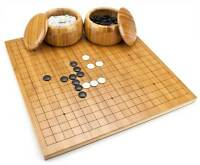 Bamboo Go Complete Game Set with Reversible Board, Bowls, Stones Go-Ke Go-Ishi