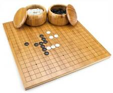 Bamboo Go Game Set with Reversible Board, Bowls, Wash, Stones Go-Ke Go-Ishi