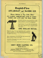 1928 PAPER AD Grey Iron Casting Co Toy Anti Aircraft Machine Gun Pay Phone Bank