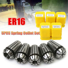 "5Pcs ER16 1/8""-3/8"" Spring Collet Set for CNC Milling Engraving Machine Lathe"