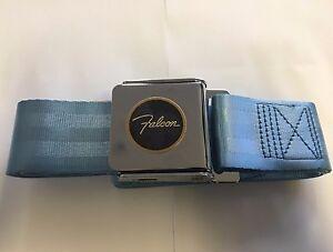 Falcon Logo Seatbelt Light Powder Blue XK XL XM XP Ford Seatbelts Seat Belts