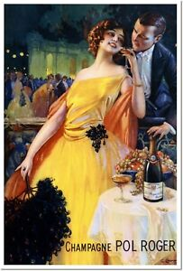 Champagne Pol Roger Vintage France Liquor Poster Reproduction