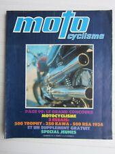 "MOTO CYCLISME N°24 /TRIUMPH TROPHY 500/KAWASAKI 250/ BSA J34-11/GUZZI ""super"" 50"