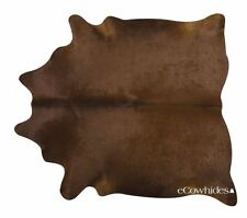 Dark Brown Brazilian Cowhide Cow Hide Area Rugs Leather Size XL