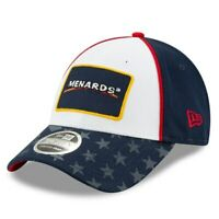 Ryan Blaney New Era Menards Salutes 9FORTY Snapback Adjustable Hat - White/Navy