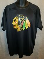 Chicago Blackhawks Black Fanatics Polyester Workout T-Shirt - Mens XL