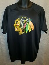 Chicago Blackhawks Black Fanatics Polyester Workout T-Shirt - Mens XL