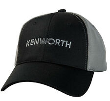 Kenworth Motors Trucks Gray & Black Sport Mesh Trucker Cap/Hat