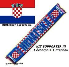 ECHARPE + DRAPEAU CROATIE maillot fahne flag scarf schal sciarpa bufanda ...