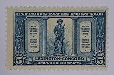 Travelstamps:US Stamps Scott #619 ,The Minute Man, 5¢ mint ,og, lightly hinged