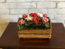 ARTISAN DOLLHOUSE WINDOW BOX POTTED CARNATIONS  1:12  **NR**