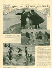 Publicité ancienne mode l'heure du bain à Deauville 1921 issue de magazine
