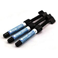 3 PrimeDent Light Cure Hybrid Dental Resin Composite 4.5gm syringes #001-001A3